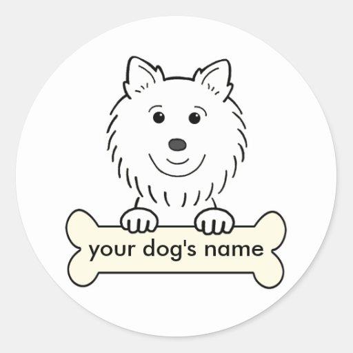 Personalized American Eskimo Dog Round Sticker