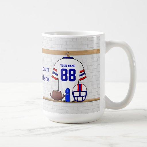 Personalized American Football Grid Iron WRB Coffee Mug