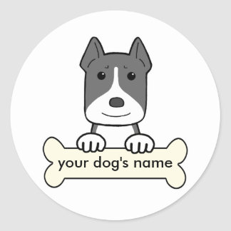 Personalized Amstaff Classic Round Sticker