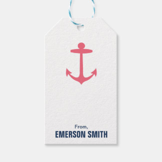 Personalized Anchor Nautical Birthday Gift Tag