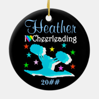PERSONALIZED AND DATED CHEERLEADER ORNAMENT