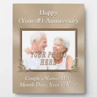 Personalized and Photo Wedding Anniversary Plaques