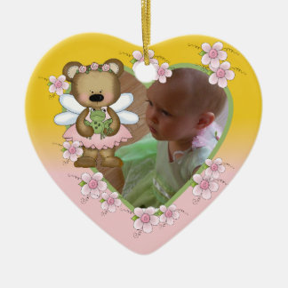 Personalized Angel Bear Photo Ornament