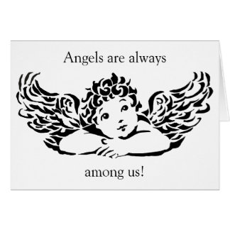 Personalized Angel Note Card