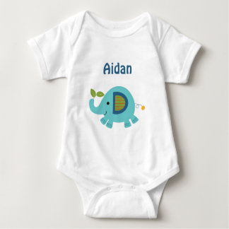 Personalized Animal Parade Elephant  baby Shirt