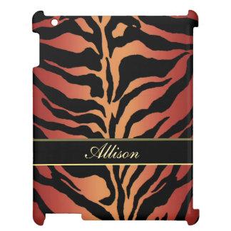 Personalized Animal Skin ~ Tiger Striped iPad Case
