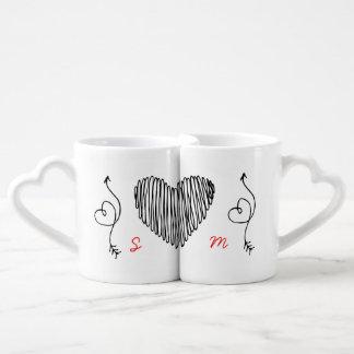 Personalized Anniversary 10th 15th 20th 25th 30th Coffee Mug Set