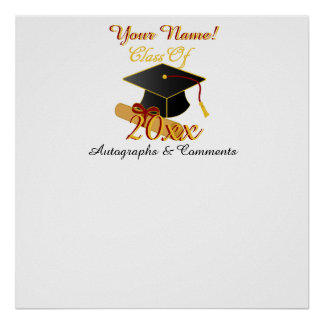 Personalized ANY Class Year Autograph Poster