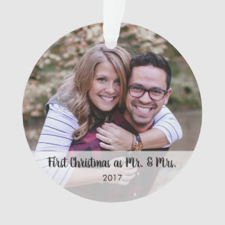 Personalized Any Message Photo Acrylic Ornament