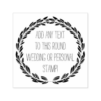 Personalized Any Text Circle Round Wedding Stamp