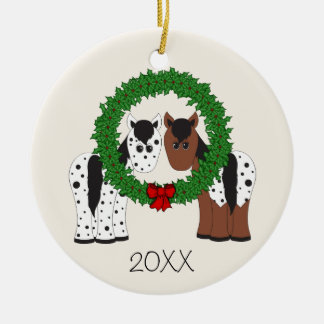 Personalized Appaloosa Horse Couple 1st Christmas Christmas Ornament