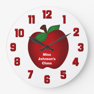Personalized Apple Wall Clock