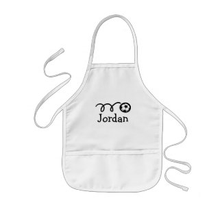 Personalized aprons for kids | Soccer ball design