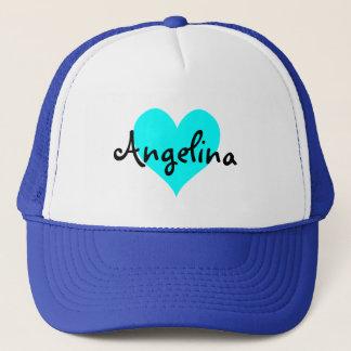 Personalized Aqua Heart Trucker Hat