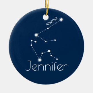 Personalized Aquarius Constellation Ornament