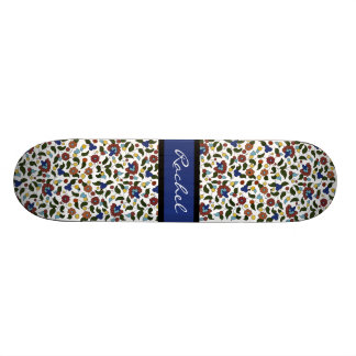 Personalized Armenian floral Girls Skateboard