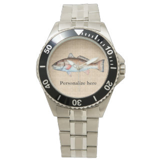 Personalized Artistic Redfish Watch