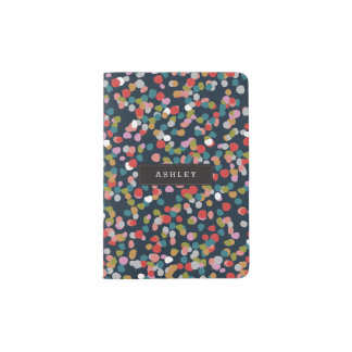 Personalized | Ashley Dots Passport Holder