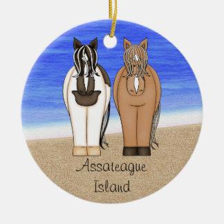 Personalized Assateague Island Ornament