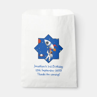 Personalized Astronaut in Space Birthday Party Favour Bags