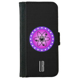 Personalized Atomic Symbol on a Pink background iPhone 6 Wallet Case