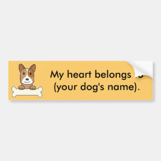 Personalized Australian Cattle Dog Bumper Sticker