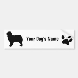 Personalized Australian Shepherd オーストラリアン・シェパード Bumper Sticker