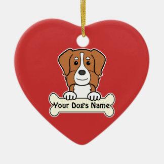 Personalized Australian Shepherd Ceramic Heart Decoration