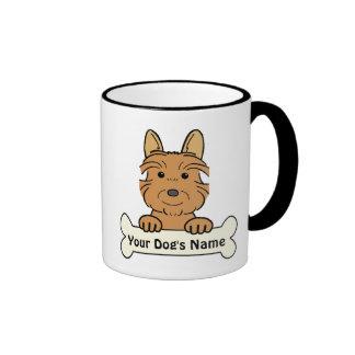 Personalized Australian Terrier Ringer Mug