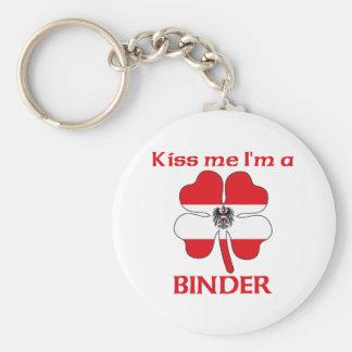 Personalized Austrian Kiss Me I'm Binder Keychain