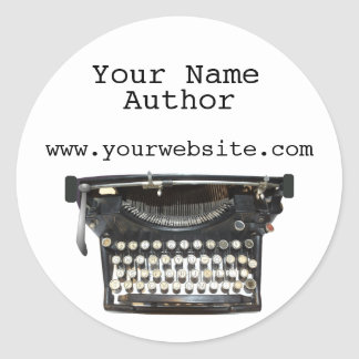 Personalized Author Stickers Typewriter Custom