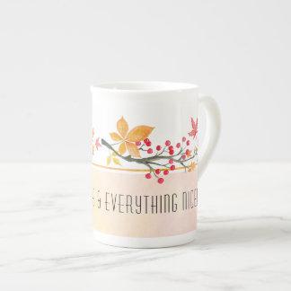 Personalized Autumn Bone China Mug