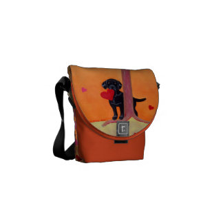 Personalized Autumn Color Black Labrador Commuter Bag