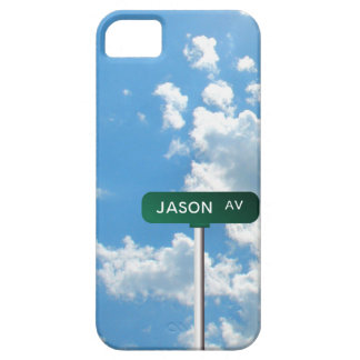 Personalized Avenue Name Street Sign on Blue Sky iPhone 5 Cases