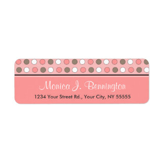Personalized Avery Pink Polka Dot Address Labels