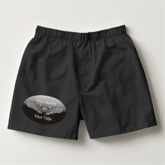 Personalized Aviation Wings Aircraft Boxers