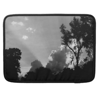 Personalized B&W Sun Rays at Sunset Sleeve For MacBook Pro