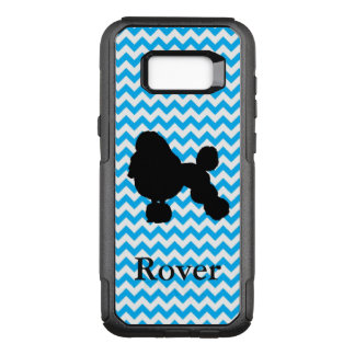 Personalized Baby Blue Chevron With Poodle OtterBox Commuter Samsung Galaxy S8+ Case