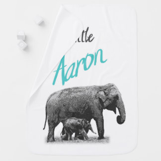 "Personalized Baby Boy Blanket ""Little Aaron"""