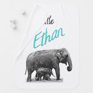 "Personalized Baby Boy Blanket ""Little Ethan"""