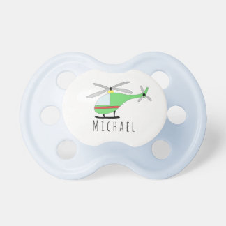 Personalized Baby Boy Helicopter Aircraft and Name Dummy
