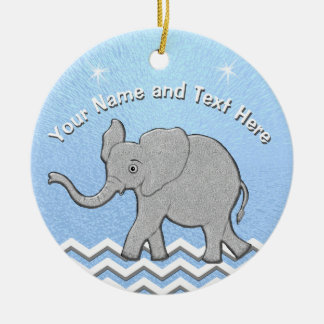 Personalized Baby Elephant Christmas Ornaments