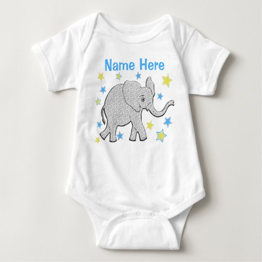 PERSONALIZED Baby Elephant Creeper for Boys