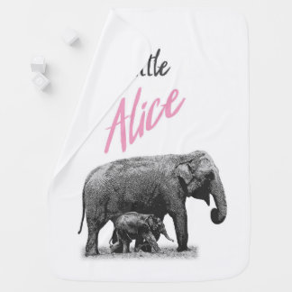 "Personalized Baby Girl Blanket ""Little Alice"""