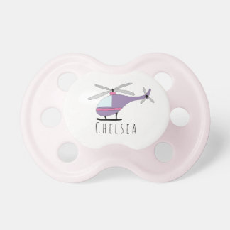 Personalized Baby Girl Helicopter Aircraft & Name Dummy