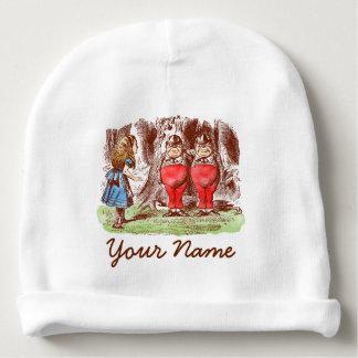 Personalized Baby Hat: Alice in Wonderland Tweedle Baby Beanie