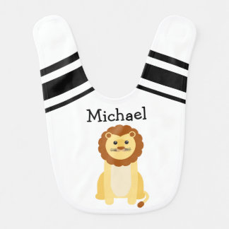 Personalized Baby Lion Bib