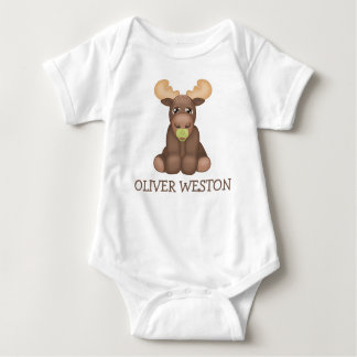 Personalized Baby Moose Jersey Bodysuit
