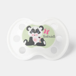 Personalized Baby Name Panda Bear Pacifier