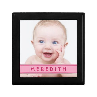 Personalized Baby Photo Name Jewelry Box - Girl